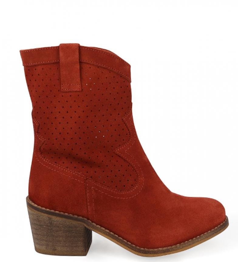 Comprar Chika10 Leather boots Aurora 03 tile -heel height: 5cm
