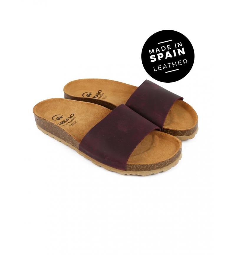 Comprar Chika10 Sandalias de piel Mabul 050 burdeos