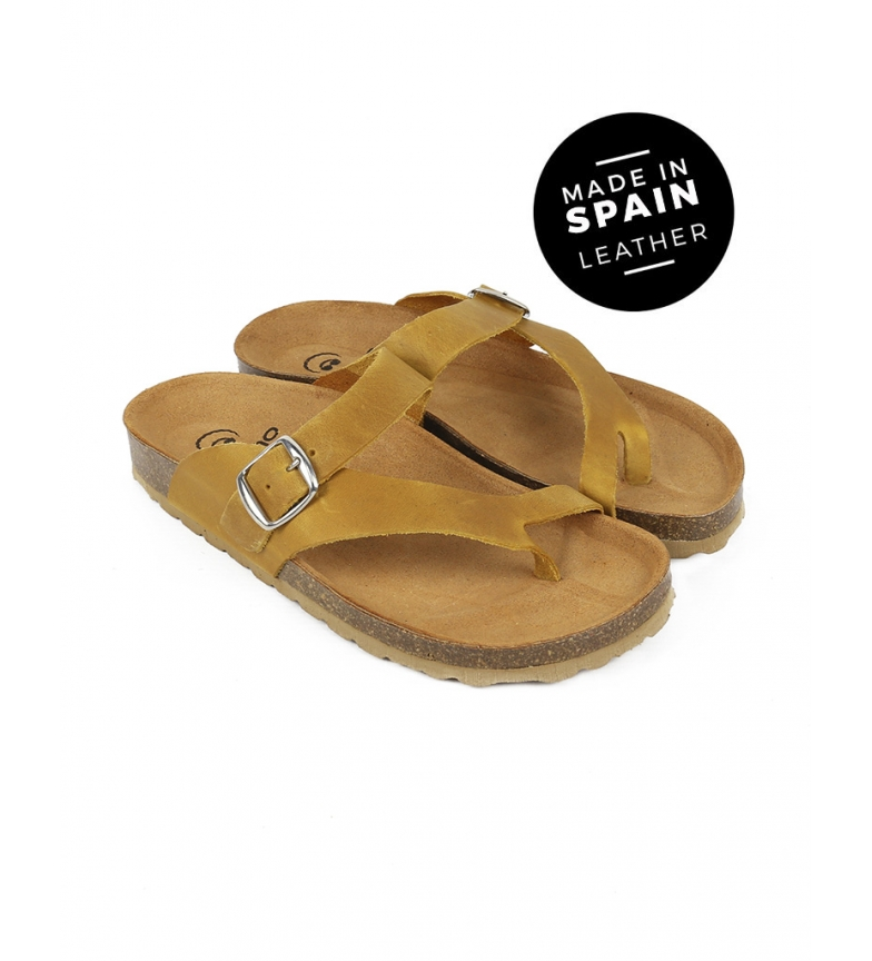 Comprar Chika10 Mabul leather sandals 013 mustard