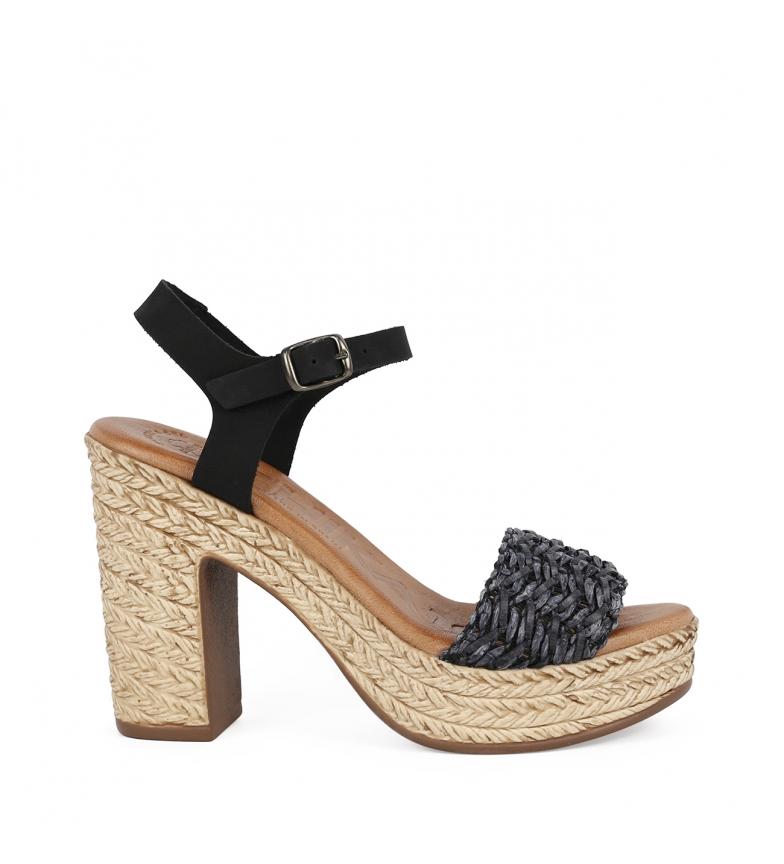 Comprar Chika10 Bevel 03 leather sandals black -High heel 11,5cm