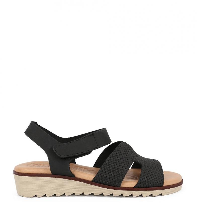 Comprar Chika10 Sandalias de piel Filipinas 07 negro -Altura cuña: 3.5cm-