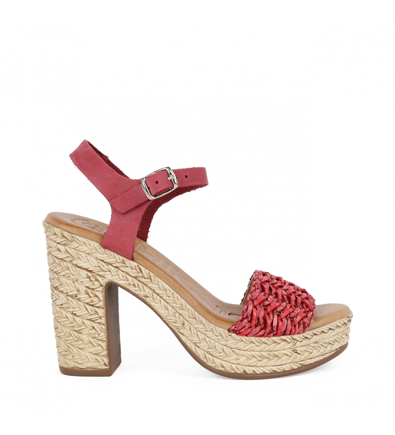 Comprar Chika10 Leather sandals Bevel 03 red -Heel height 11,5cm