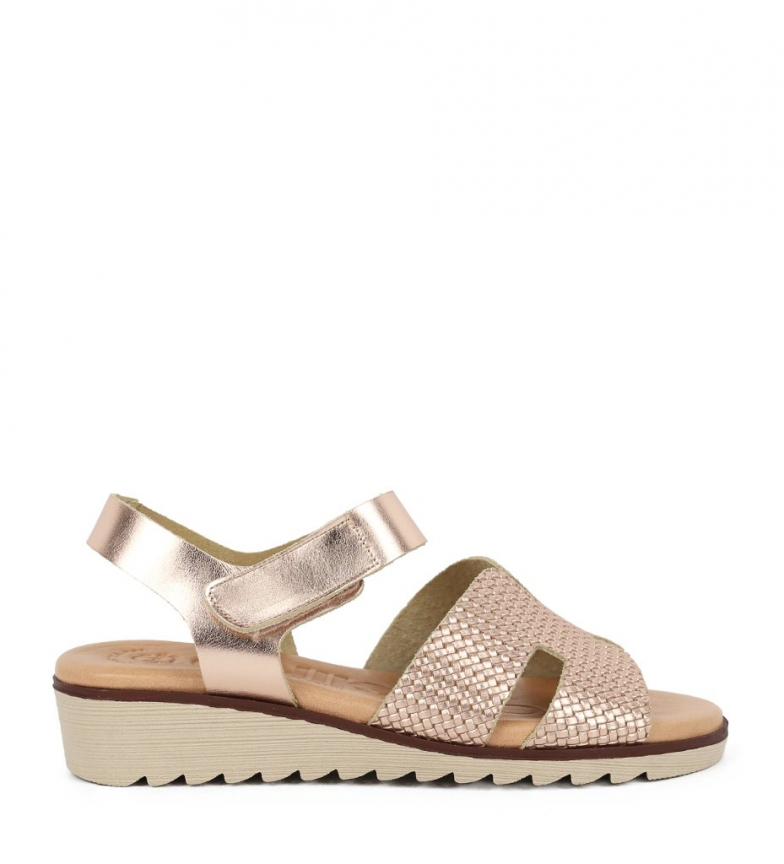 Comprar Chika10 Philippines 07 rose leather sandals - Wedge height: 3.5cm