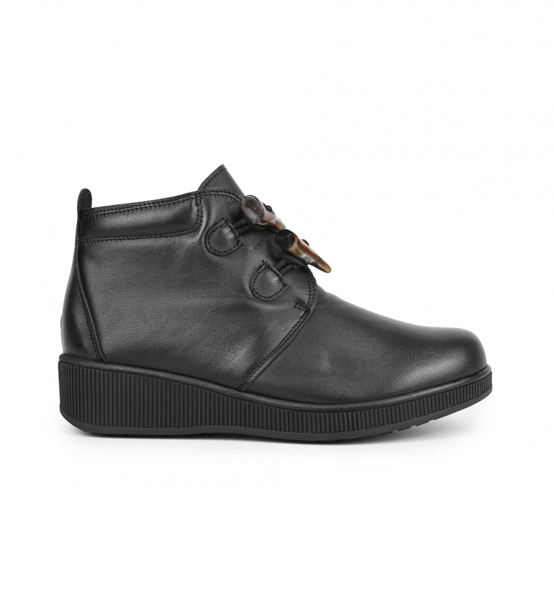 Chika10 Conforto 03 botas de couro preto