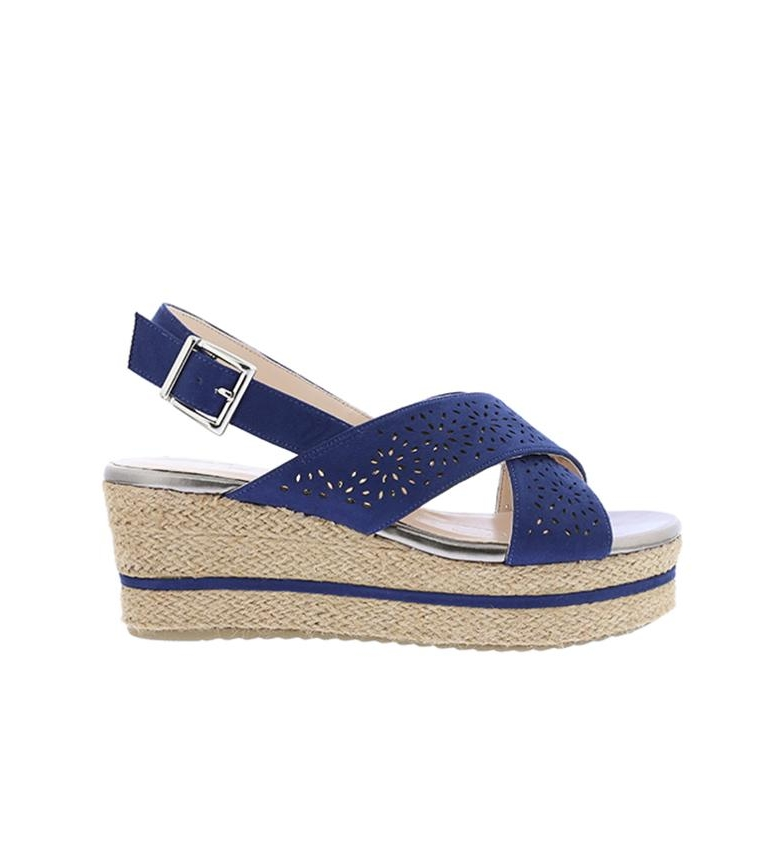 Comprar Chika10 Sandals Dona 07 marine - Wedge height: 7cm