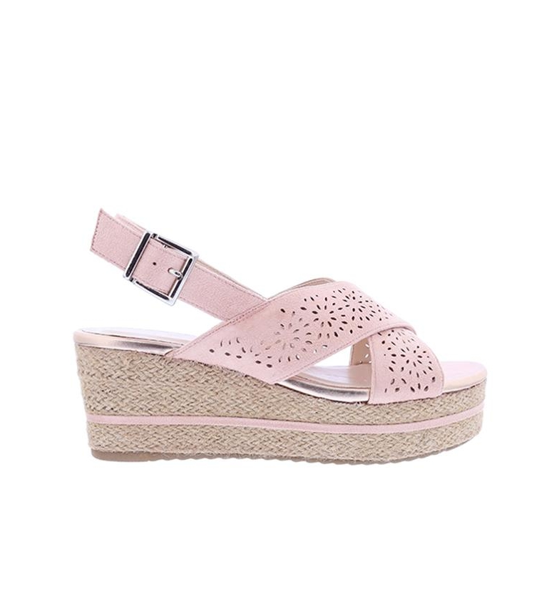 Comprar Chika10 Sandals Dona 07 nude - Wedge height: 7cm