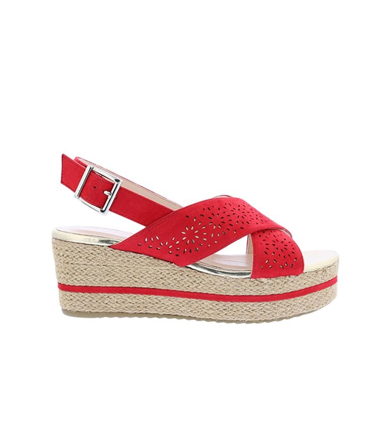 Comprar Chika10 Sandals Dona 07 red - Wedge height: 7cm