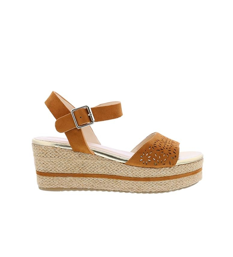 Comprar Chika10 Sandals Dona 08 leather - Wedge height: 7cm
