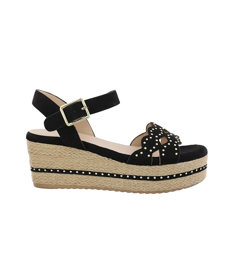 Comprar Chika10 SandalsDona 09 noir - hauteur de la cale : 7cm