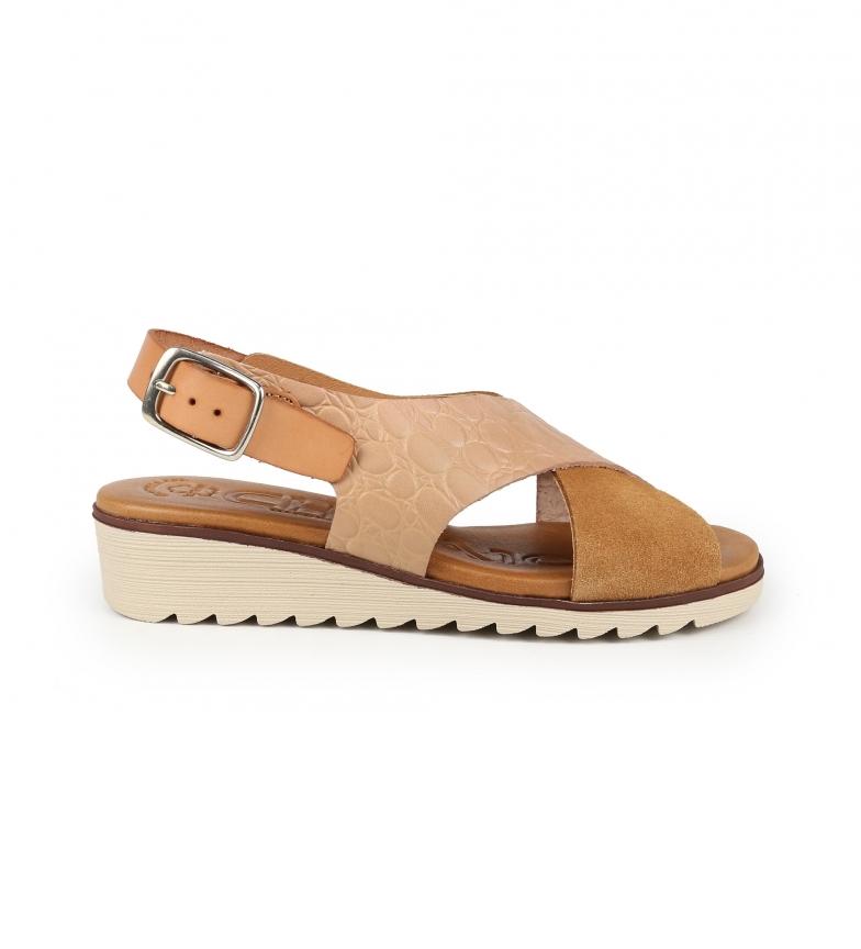 Chika10 Sandálias de couro filipinas 14 Couro