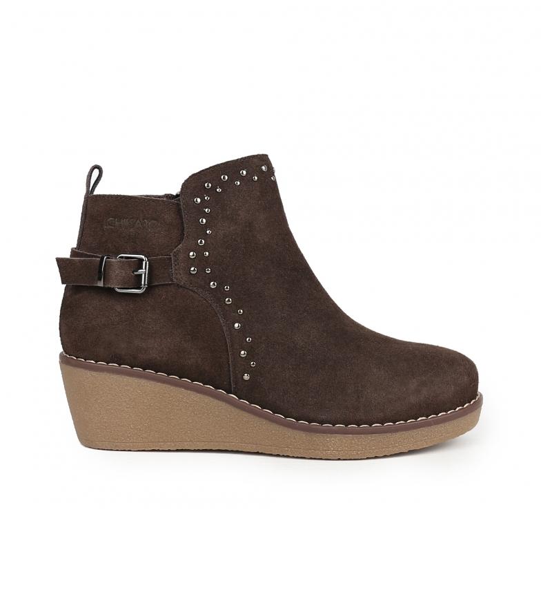 Comprar Chika10 Ivana 01 botas de couro marrom para tornozelo