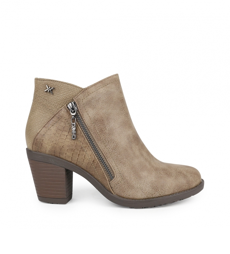 Comprar Chika10 Kurazo 17 taupe ankle boots -Heel height: 7 cm