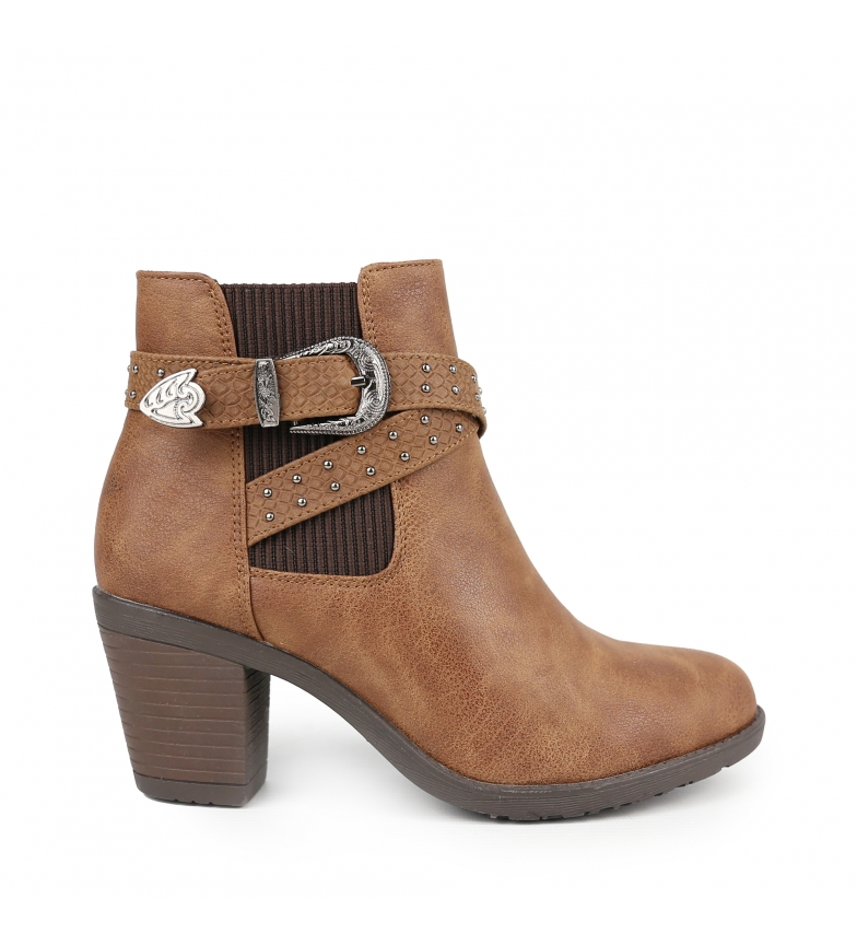 Comprar Chika10 Kurazo 20 leather ankle boots -Heel height: 7 cm