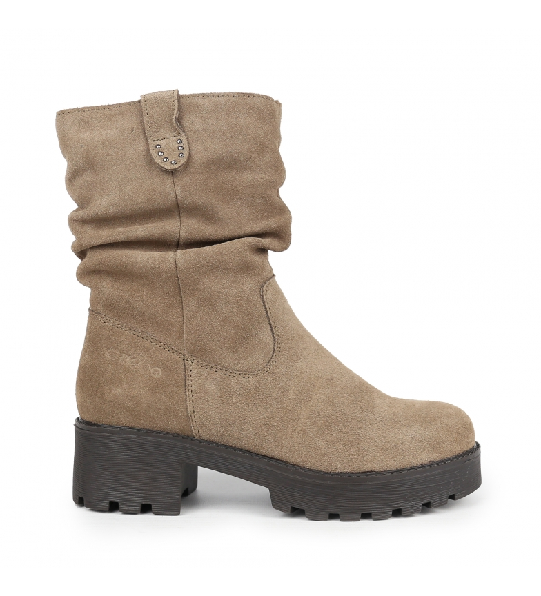 Comprar Chika10 Leonor 11 botas de couro em tafetá