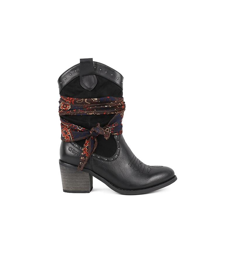 Comprar Chika10 Lily 01 bota preta - Altura do calcanhar: 7cm