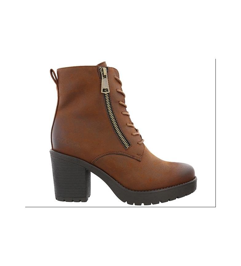Comprar Chika10 Margaret 01 bota de couro - altura da roda: 6.5cm