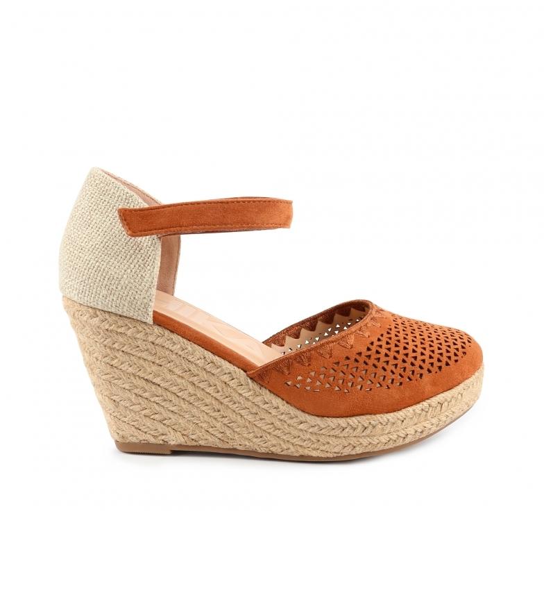 Comprar Chika10 Nadia 15 sandali marroni - Altezza cuneo: 8cm