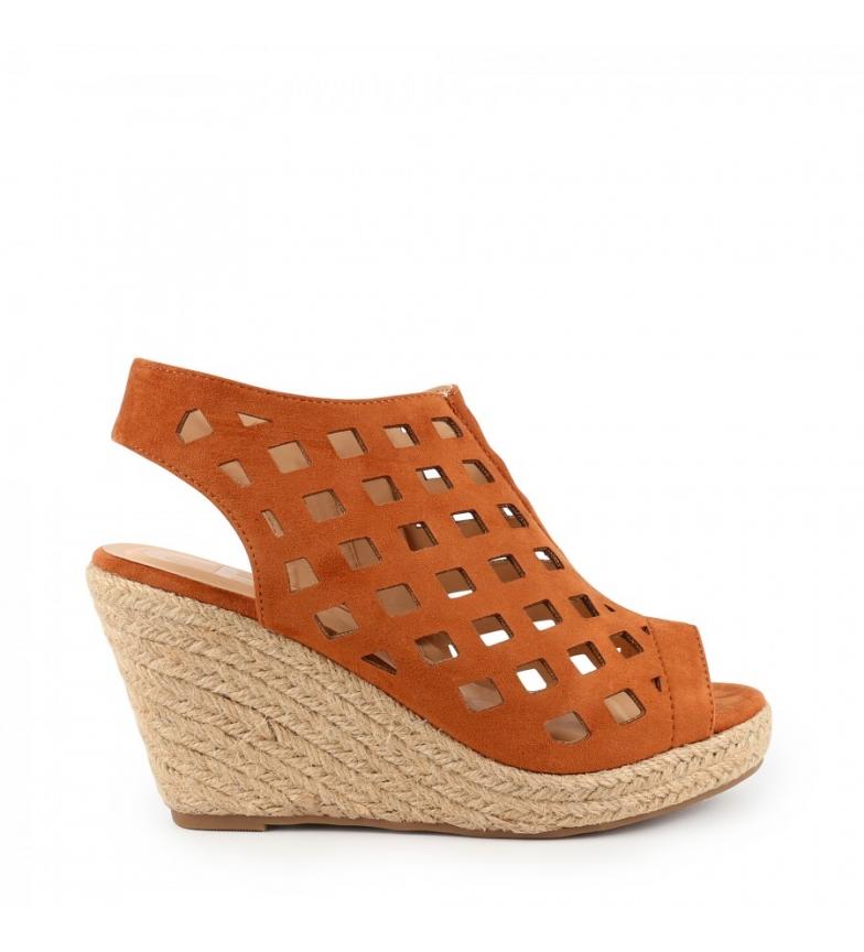 Comprar Chika10 Nadia 18 sandali marroni - Altezza cuneo: 8cm