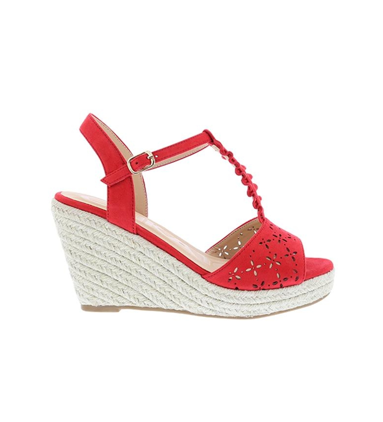 Comprar Chika10 Sandals Nadia 10 red - Wedge height: 8cm