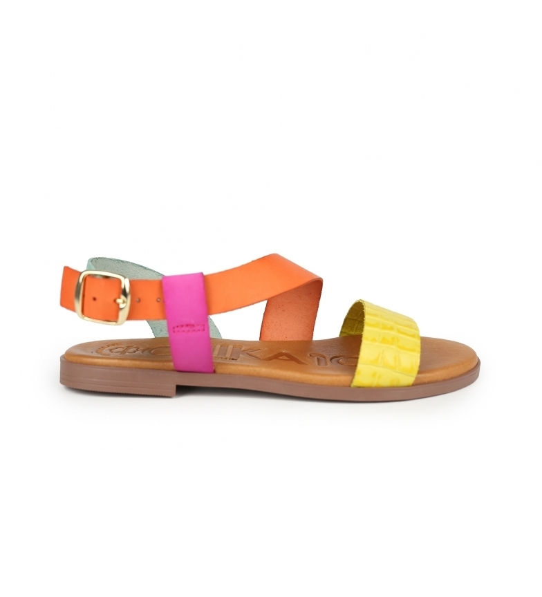 Chika10 Leather sandals Nicol 05 multicolor