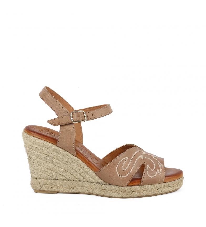 Comprar Chika10 Paita 03 sandálias de couro em tafetá - altura da cunha: 8cm