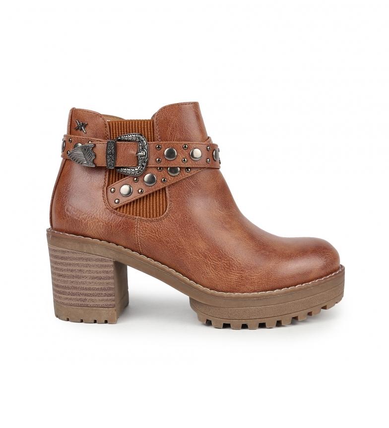 Comprar Chika10 Pilar 08 botas de couro para tornozelo - Altura do calcanhar: 7 cm