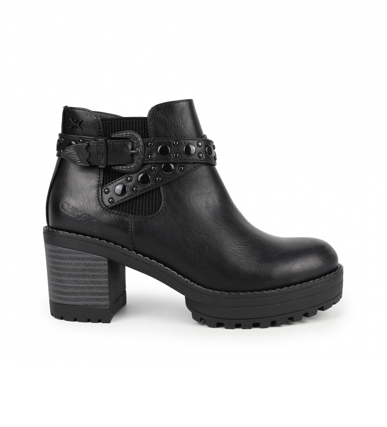 Comprar Chika10 Pilar 08 ankle boots black -heel height: 7 cm