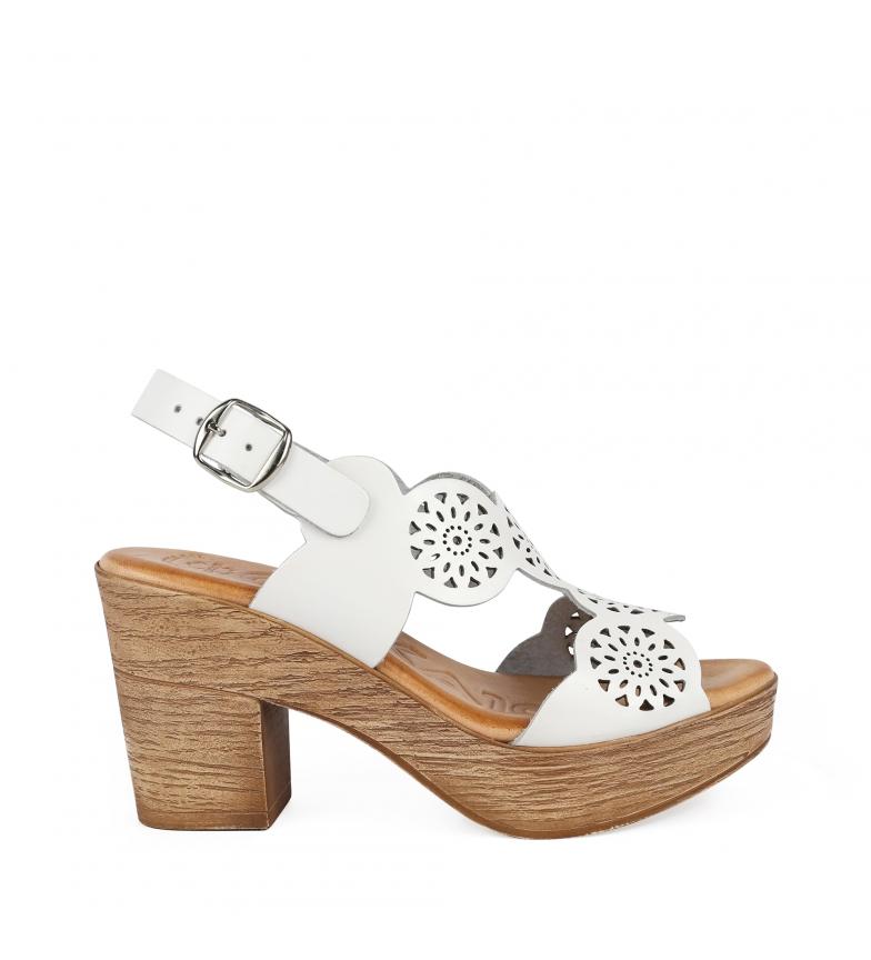 Comprar Chika10 Alois 2034 sandali di pelle bianca -Altezza del tacco: 8cm