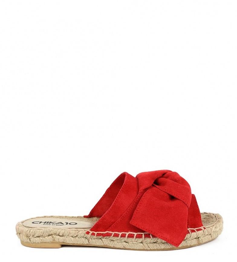 Comprar Chika10 Bio Mediterranean leather sandals 01 red