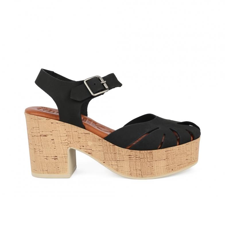 Comprar Chika10 Sandalias de piel Lola 01 negro -Altura tacón: 9cm-
