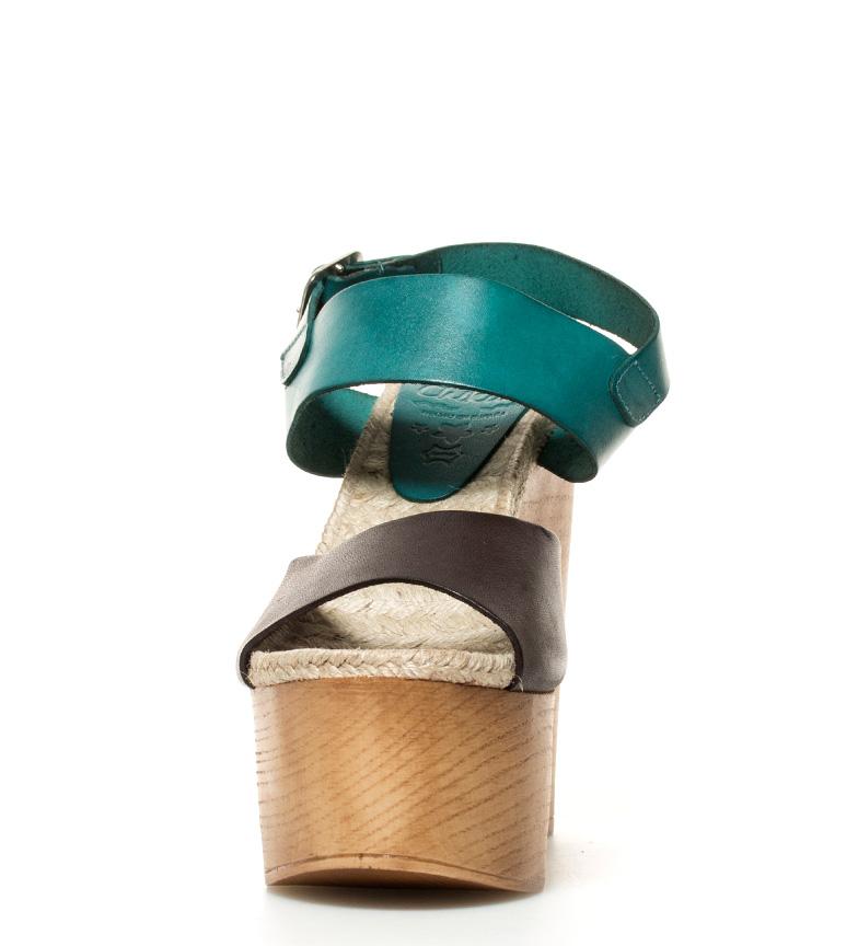 Chika10 5cm turquesa 04 mocca de Rusia br br 14 Altura piel Sandalias tacón r6ARWp7cr