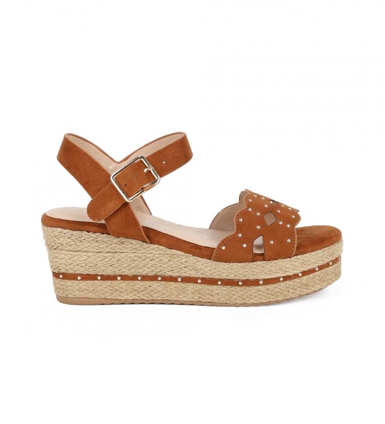 Comprar Chika10 Dona 09 sandali in pelle - Altezza zeppa: 7cm