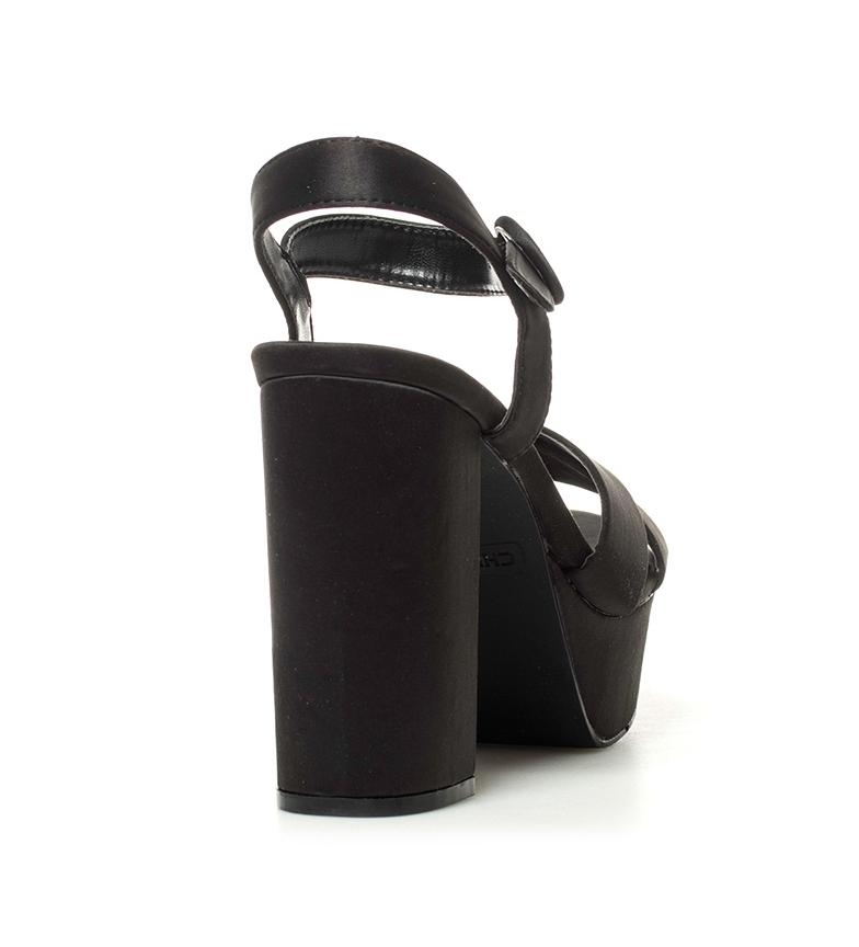Chika10 01 tacón negro New Taylor Altura raso Sandalias 12cm Oq7OrtU