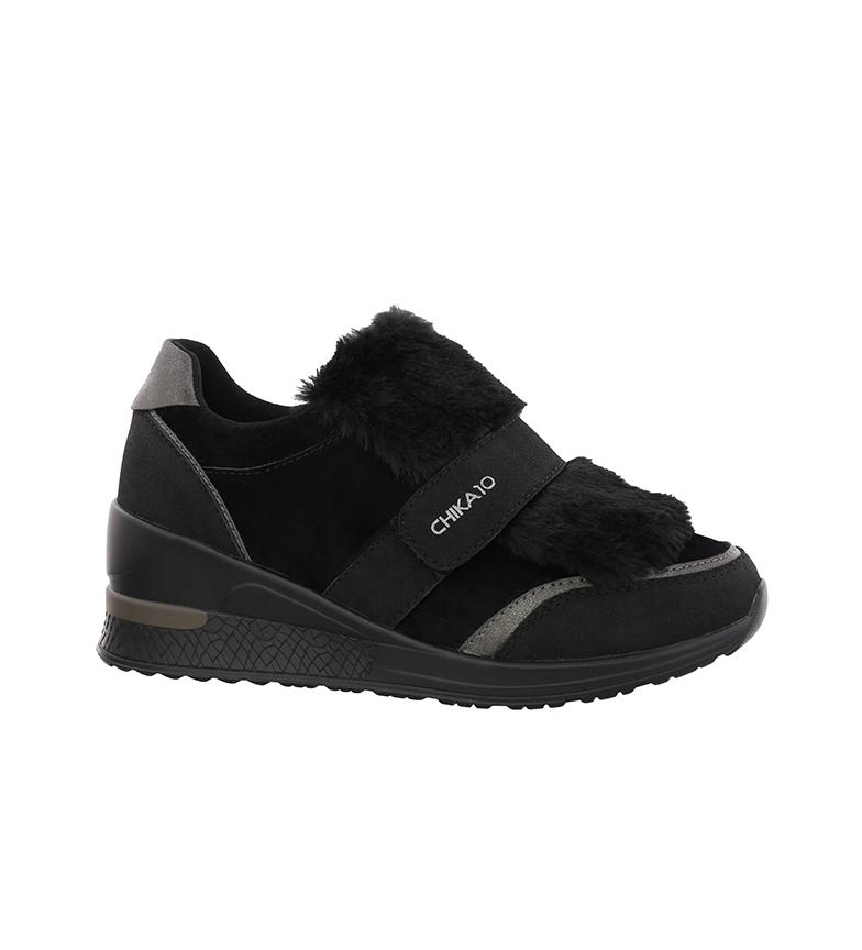 Comprar Chika10 Selena 04 chaussures noir - Hauteur de cale : 6cm