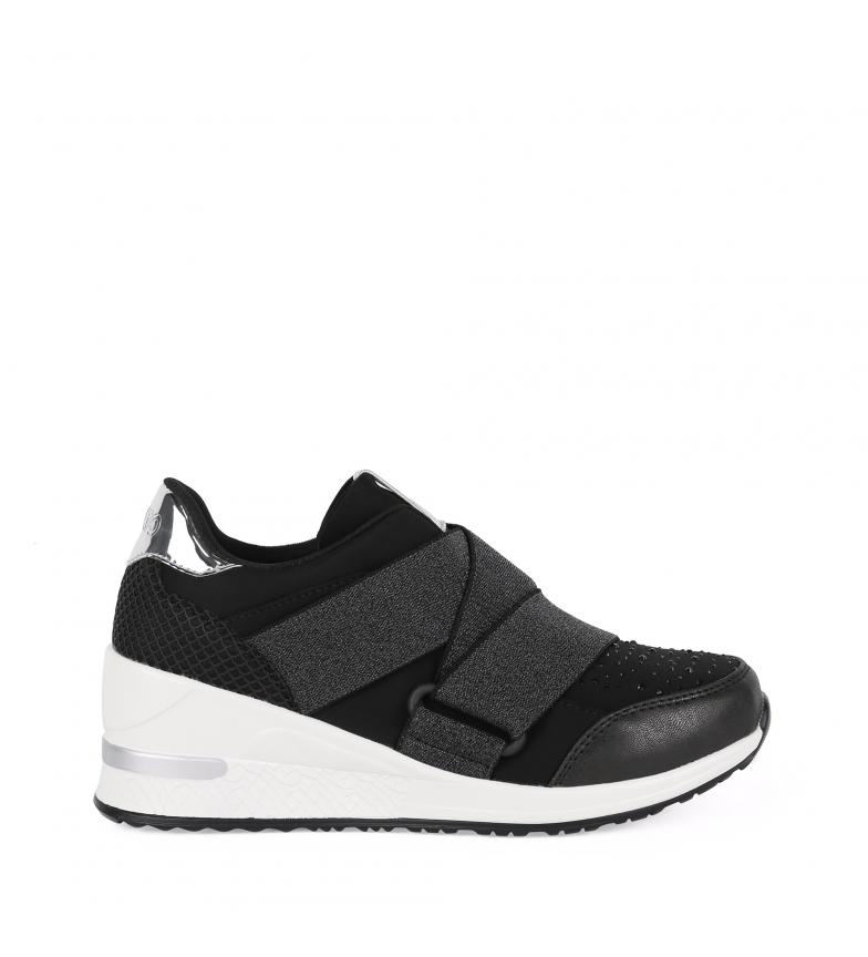 Comprar Chika10 Selena 06 scarpe nere-altezza suola + zeppa: 6cm-