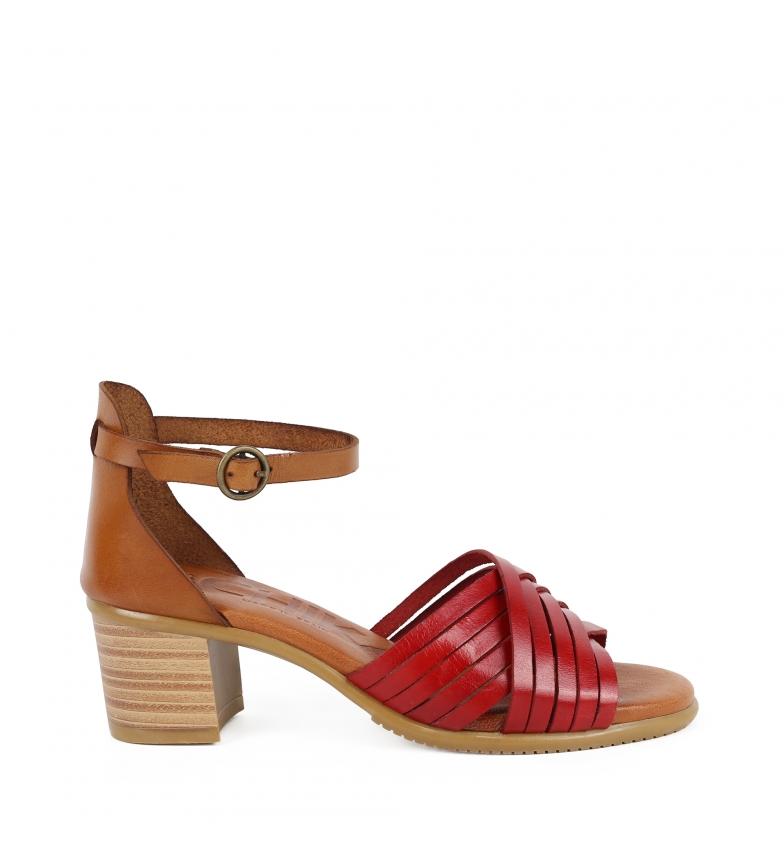 Comprar Chika10 Sandalias de piel Tivoli 14 rojo -Altura tacón: 6cm-