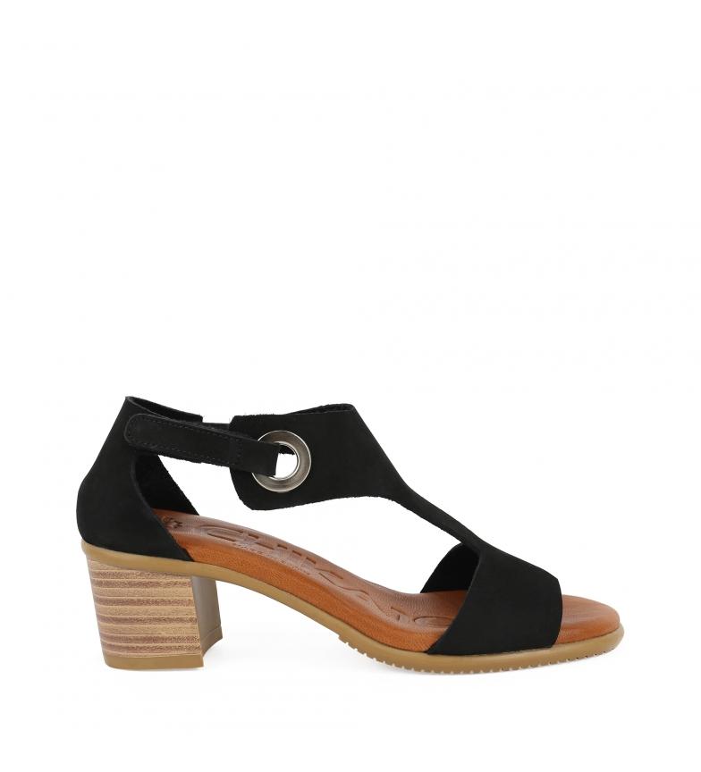Comprar Chika10 Leather sandals Tivoli 11 black -heel height: 6cm