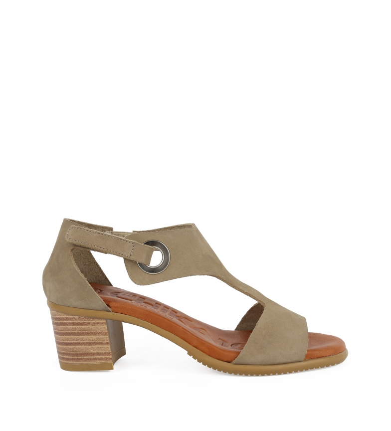 Comprar Chika10 Sandales Tivoli 11 en cuir taupe - hauteur du talon : 6cm