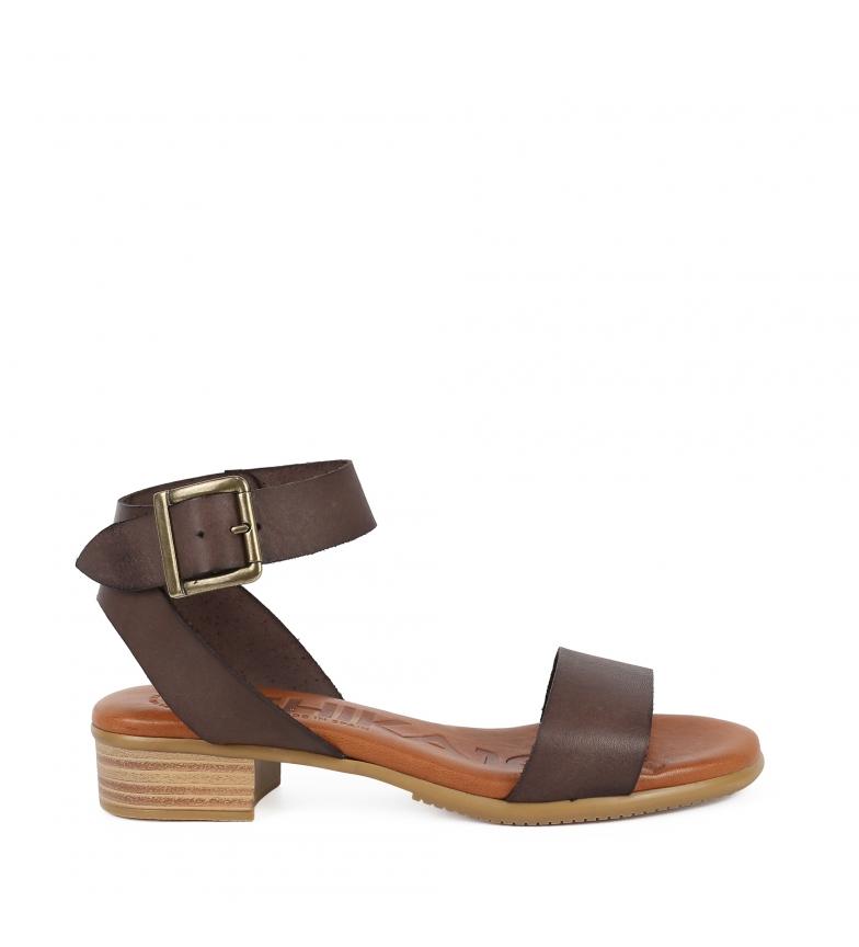 Comprar Chika10 Sandálias de couro Tivolino 02 castanho - altura da roda: 4cm-