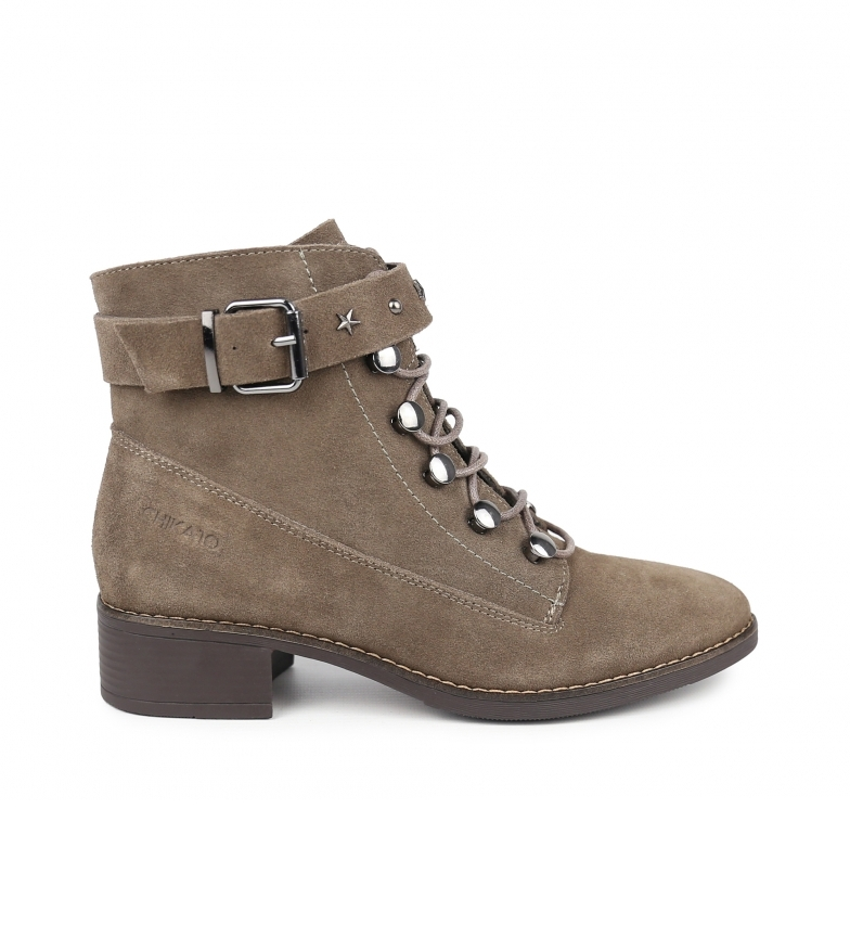 Comprar Chika10 Wanda 13 taupe leather ankle boots