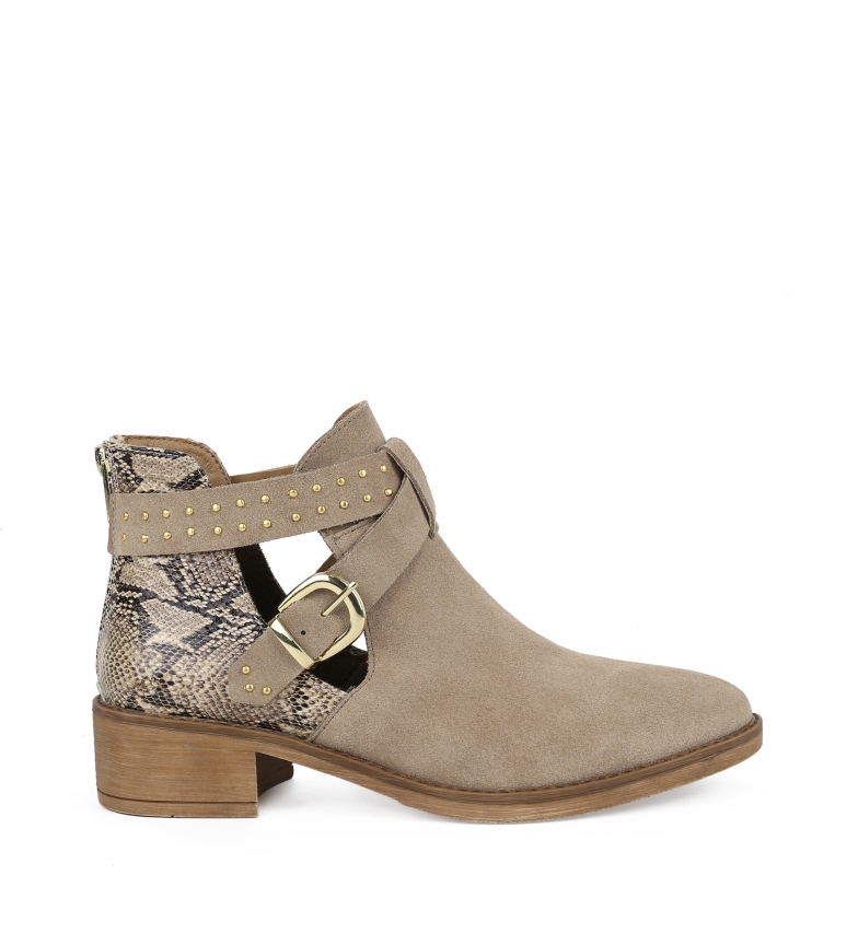 Comprar Chika10 Wanda 04 stone leather ankle boots