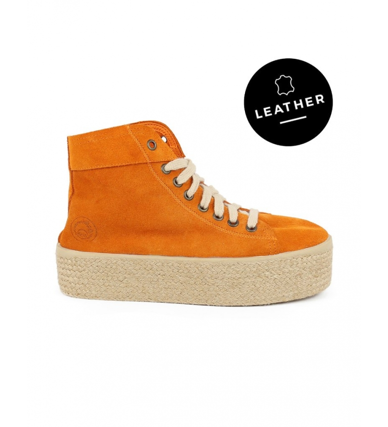 Comprar Chika10 Puka 10 tangerine leather high shoes - Platform height: 4.5cm-