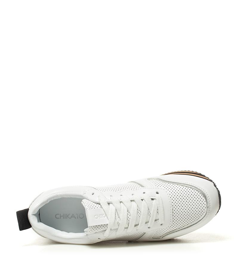 01 plataforma Altura Zapatillas blanco 3cm Carla Chika10 8qw7af