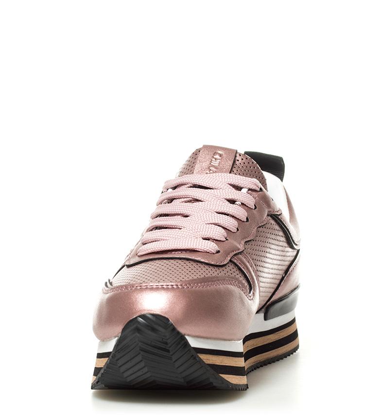 Altura plataforma Zapatillas Carla 3cm Chika10 metal rosa 01 wUXdxYq
