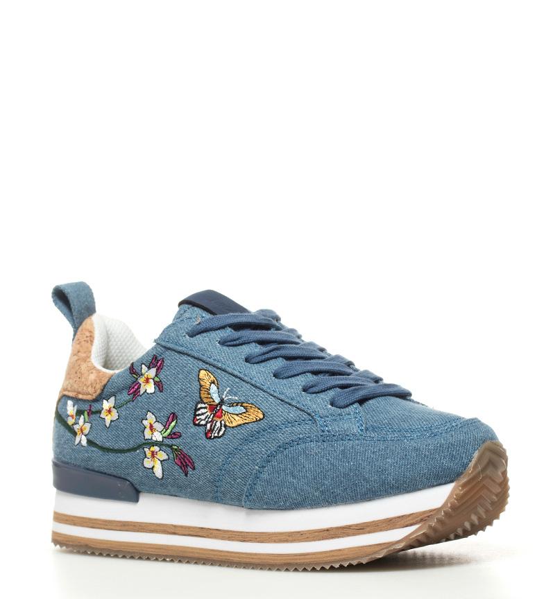 Chika10 - Zapatillas Carla 02 azul El más barato para la venta Calidad al por mayor ROYtVGzP