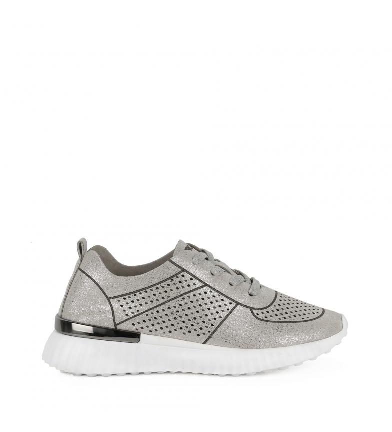 Comprar Chika10 Slippers Cristi 01 silver Wedge height: 5cm