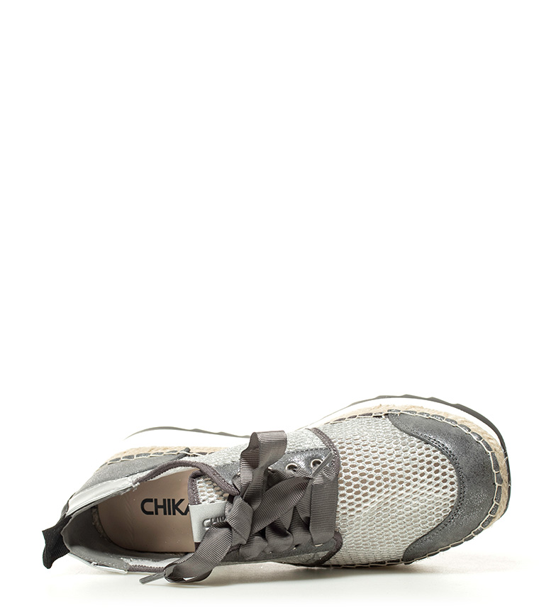 Chika10 Altura Zapatillas plata 06 5cm plataforma Ivy zgOrqxz