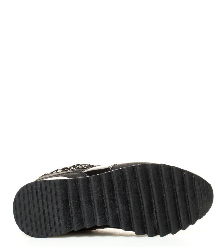 Altura br Zapatillas cuña New br Ines negro Chika10 interna 01 5cm WxOnCwUnPZ