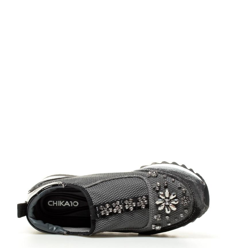 Chika10 Zapatillas New Ines 03 gris Altura cuña interna: 5cm