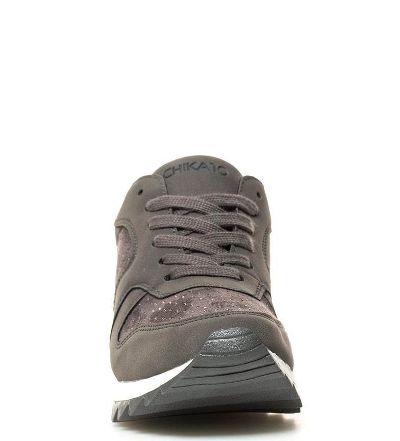 New br Ines 04 gris Zapatillas cuña Altura 5cm br Chika10 interna qxSfwZ5